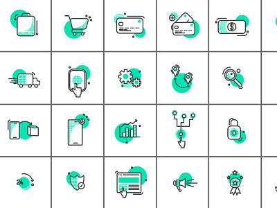 40 Ecommerce Icons icon design vector icon set