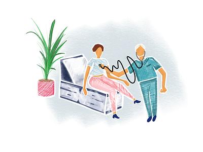 Health & Wellness Illustration design illustration vector
