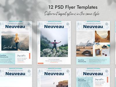 Neuveau – 12 Travel Flyers flyer flyer design print design vector