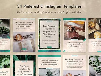 34 Pinterest & Instagram Templates