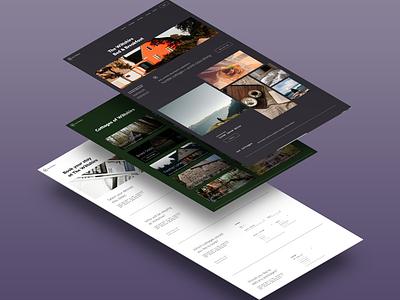 Bed & Breakfast Website Template Kit web ui ux ui design design vector