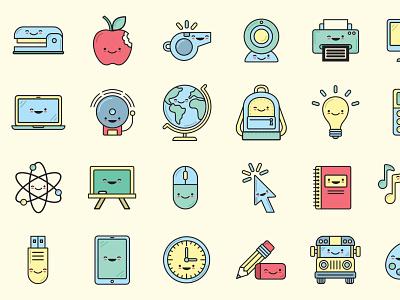 28 Education Icons icons icon set icon web ui ux illustration design vector