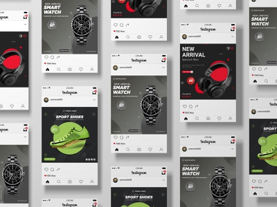 E-Commerce Products Social Media post Templates creative logo music minimal poster banner minimal poster banner inspirational quotes facebook post template creative  design color correction a social media posting strategy design