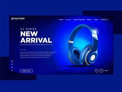 Headphone Landing Page creative  design branding vector landing page concept headphone landing page landing page ui landing page design landing page ui website