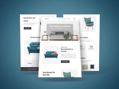 Furniture e-Commerce Website Landing Page website design ui website template ui design store shop architecture landing page home page furniture