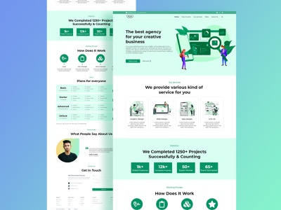 Marketing Agency Landing Page Design color correction creative  design design home page ui homepage website ui design marketing landing page digital marketing digital agency agency