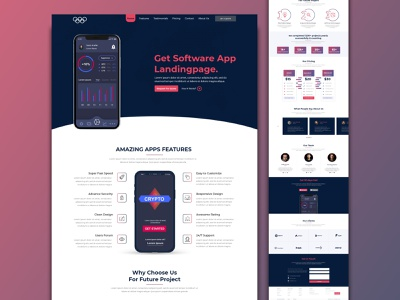 App Landing Page ui design branding creative  design ui website website design landing page landing design app landing homepage