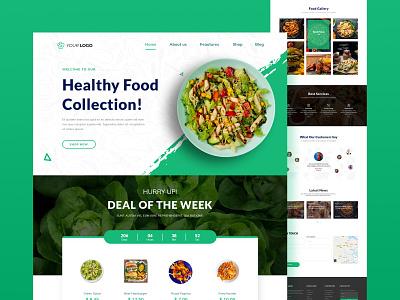 Food Landing Page food ui food homepage food website website design branding graphic design homepage
