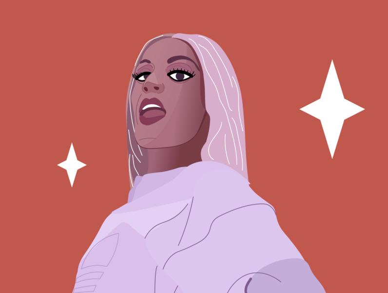 Pabllo Vittar vector pride lgbt empowering drag queen brazilian funk brazil illustrator illustration pabllo vittar