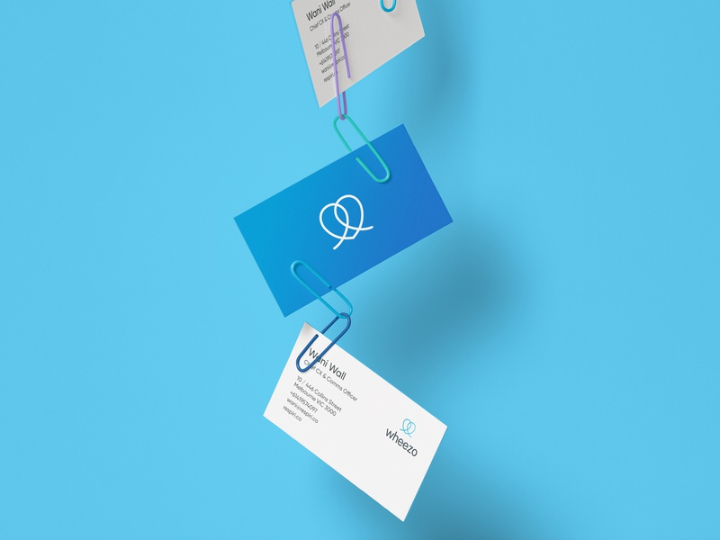 wheezo branding - business cards minimal logo icon vector design branding