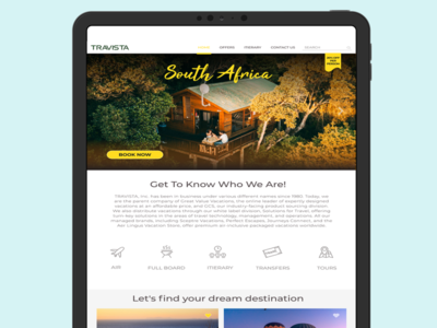 Travel Landing Page UI - Free Download ui stickers landing page design branding travel travel app desktop mobile ui ux design uidesign ui  ux free download
