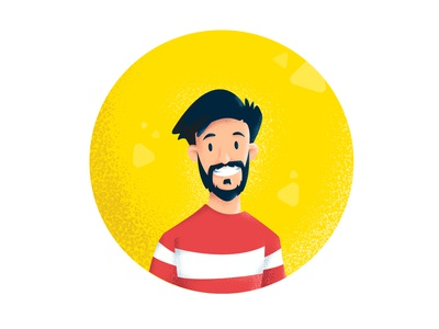 The Designer minimal web flat graphic design ios texture grain icon logo vector design illustration
