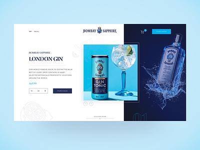 Bombay Sapphire Website Redesign ui webdesign adobexd typography designs redesign web app branding interface ux app design design