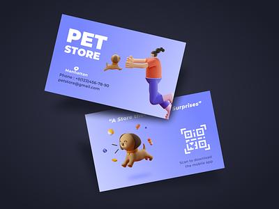 Branding - Pet Store Business Card brand design ui flat icon minimal interface vector dog petshop pet business card logo branding brand design illustration