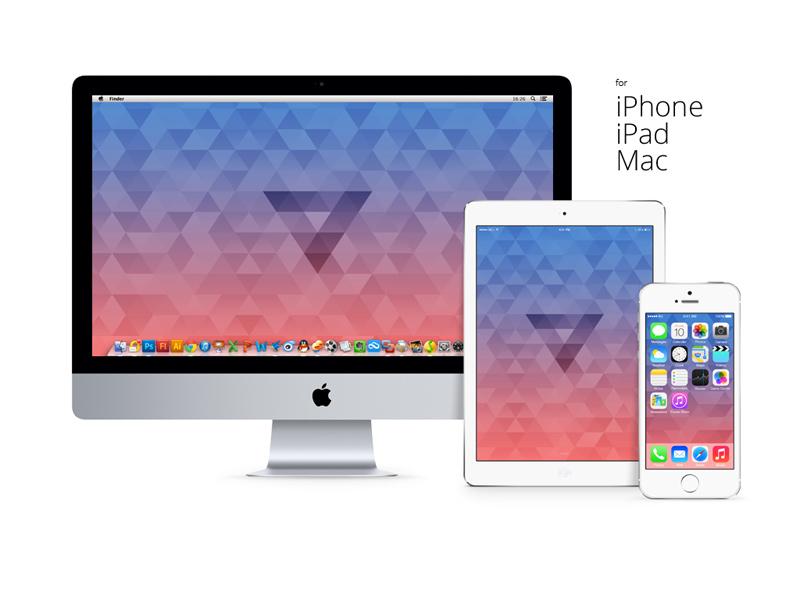 Triangle wallpaper ios iphone