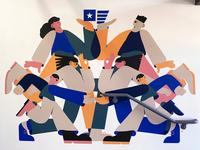 Mural artist characters mural design mural illustration characterdesign
