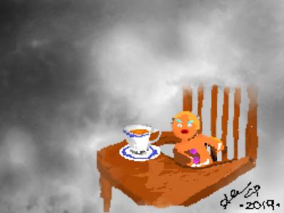 De lo único de lo que serás rey es del reino de los estúpidos pixelart paint meme gingerbread man shrek