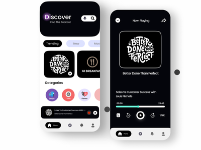 Podacst app ui app ui web user experience uiux design uidesigner appdesigner appux appui appdesign uxdesign ux ui uidesign branding design podcastappui branding