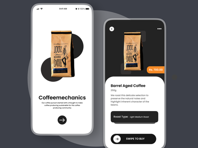 Coffemechamics user experience ui designer app ui design concept uxdesign uidesign ux ui appuiux coffebean coffee appui appdesign brand identity branding