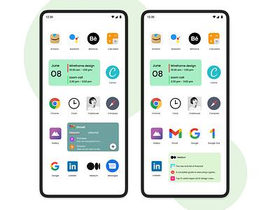 Android Widgets widgets appdesign uxdesign user experience ui uiux uidesign design branding