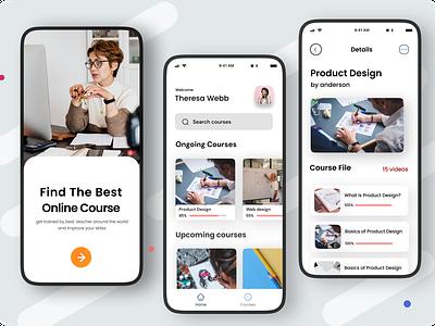 Online Courses ux ui minimalistic learning platform learning app student app education website app android app ios app online courses app online courses online study education app education