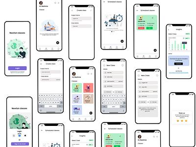 Newton classes product design uidesigner appdesign uxdesign user experience branding ui uiux uidesign design education app onlineeducation