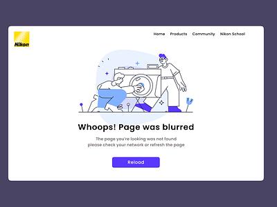 Error Page 404 page design 404 page userinterface user interface design user experience design cameras webpage error page design website design error website web uiux camera