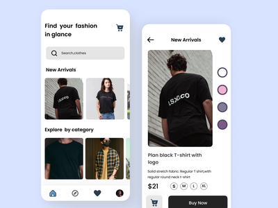 Fashion Mobile App cart e-commerce shop pastelcolors typography minimal ux ui design ios app mobile models brand apparel clothing outfit fashion