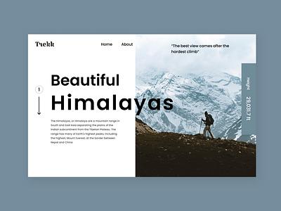 Trekking Website Design website typography typo weddesign web website design trekkingwebui design ux ui