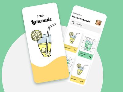 Lemonade App Concept ecommerce visualdesigner visualdesign uidesigner uiux ux ui appui productdesign uxdesign branding brand appdesign uidesign lemondae