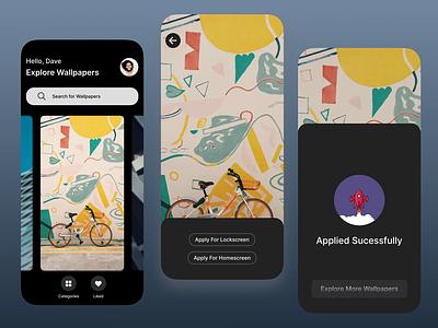 Wallpaper App ui app ui web user experience uiux design uidesigner appdesigner appux appui appdesign uxdesign ux ui uidesign branding design wallpaperappui branding