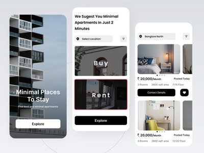 Rental Apartments App UI app design webdesign ui designer app uiux brand mobile ui rentalappui rentalapp apartment app uiux appdesigner appdesign uxdesign ux ui uidesign