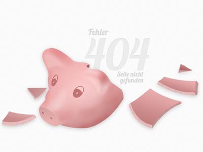 Broken Piggy Bank 404 piggy bank error broken pig