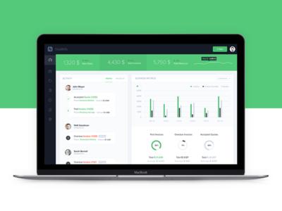 GladBills 2 financial dashboard dashboad accounting invoicing