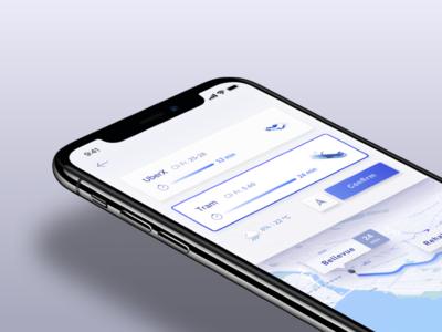 Transport App Concept ios app maps public transport uber