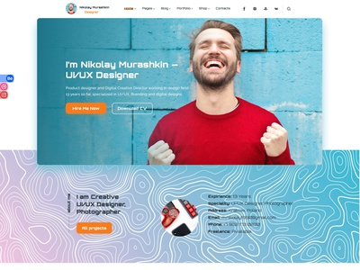 Portfolio for some great guy landing page landing web design