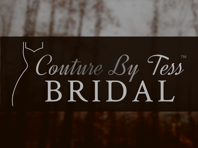 Couture By Tess Bridal Logo vector icon logo illustration typography branding