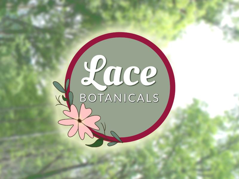 Lace Botanicals Logo handdrawn badge logo vector logo illustration design typography branding
