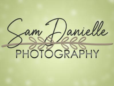 Sam Danielle Photography Logo floral design handdrawn logo illustration typography branding