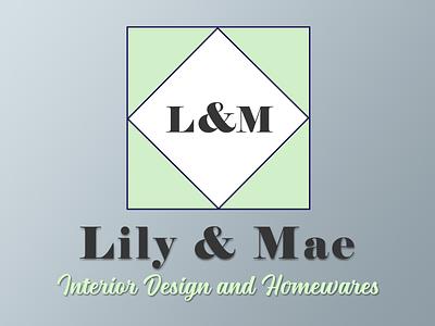 Lily & Mae Logo geometric brand identity brand design vector logo branding design typography