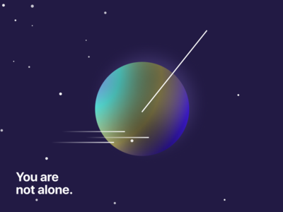 You are not alone. spacex space illustraion corporate identity branding design