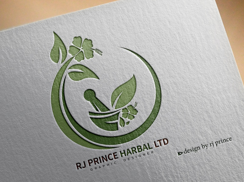 RJ HARBAL LTD Logo Design (design by rj prince) logo branding illustration design icon
