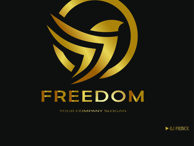 Freedom Logo Design (design by rj prince ) logo icon branding illustration design