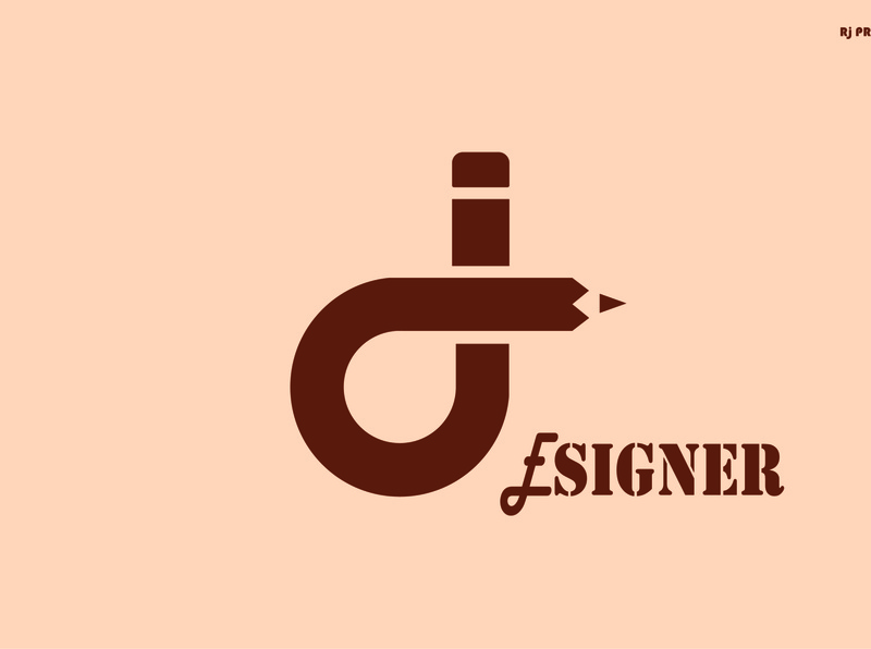 """d"" Logo Design (design by rj prince ) logo icon"