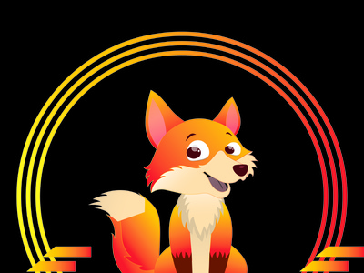 Fox Illustration (design by rj prince ) icon branding logo illustration design