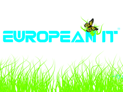 European It Logo Illustration (design by rj prince) logo icon illustration