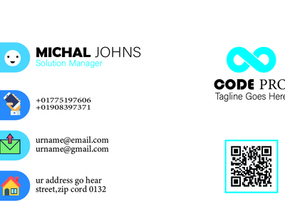 Code Pro Business Card Design (design by rj prince) business card