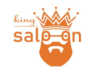 King Saloon Logo Design (design by rj prince) branding logo icon