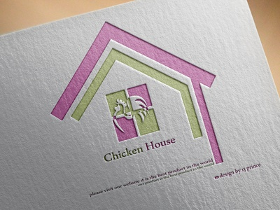 chicken House Logo Design (design by rj prince) illustration design branding business card icon