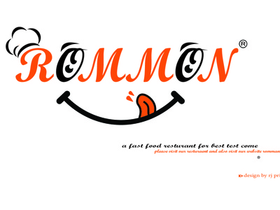 Romman Food Shope Logo Design (design by rj prince) branding design logo illustration icon